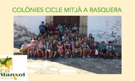 Colonias de 3º y 4º de EP en Rasquera
