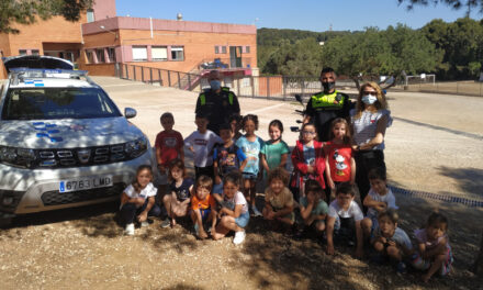 Visita de la Guardia Urbana en P5